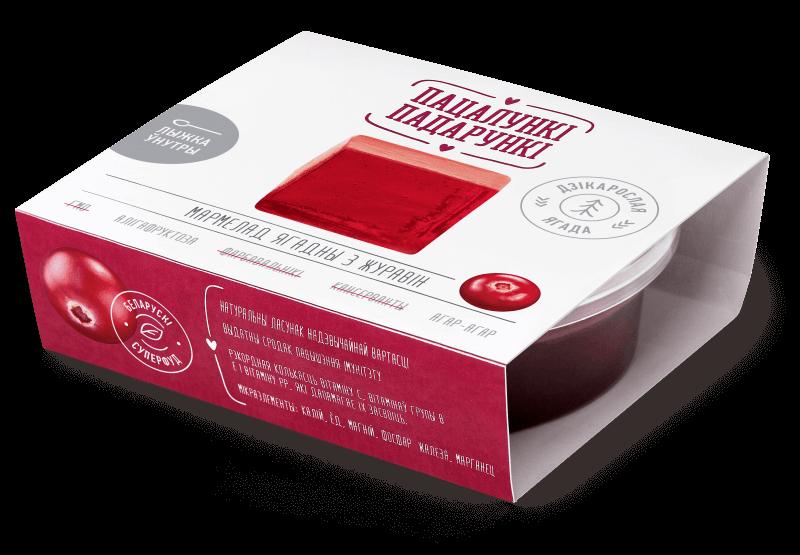 Мармелад из ягод клюквенный желейно-фруктовый пластовый